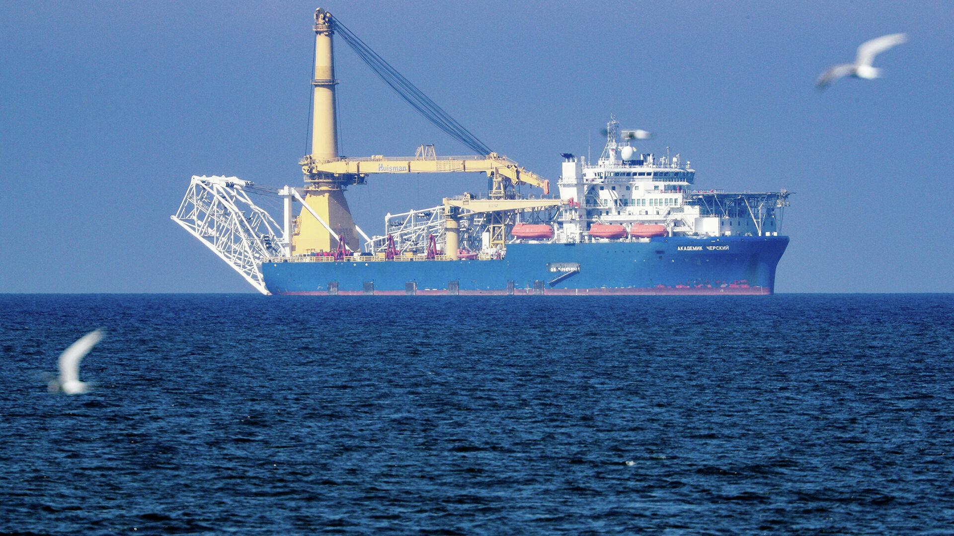"""""""Akademik Čerski"""" plovi ka vodama Danske radi nastavka gradnje gasovoda """"Severni tok 2"""""""