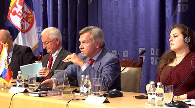 Пушков: Срби, дође ли до заоштравања због Косова, дођите у Москву да заједно размислимо