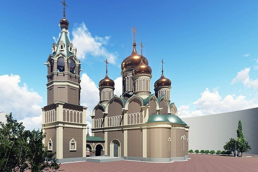 OSVЯЩEN FUNDAMENT RUSSKO-SERBSKOGO HRAMA V BANЯ-LUKE
