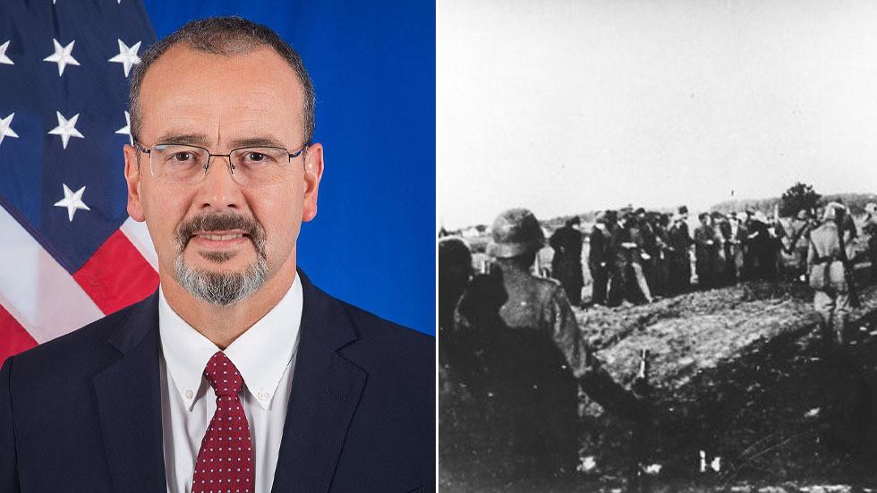 """РТ: """"Немачка је сада ваш пријатељ"""": Одлазећи амерички амбасадор увредио Србију на споменику ђацима које су погубили нацисти"""