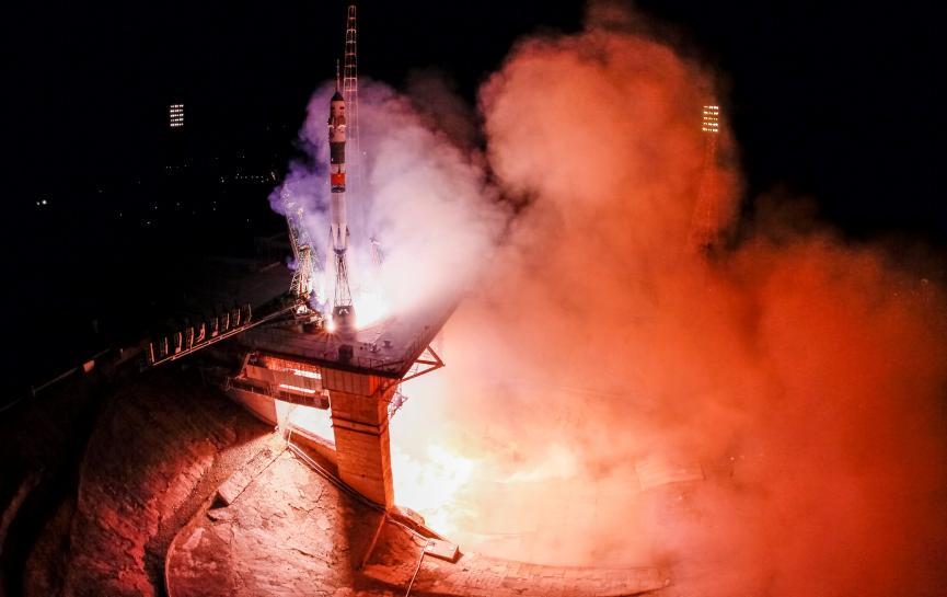 Lansiran kosmički brod sa novom posadom MKS-a