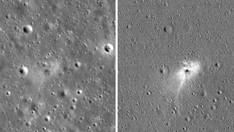 НАСА објавила фотографију места пада израелског лунарног апарата