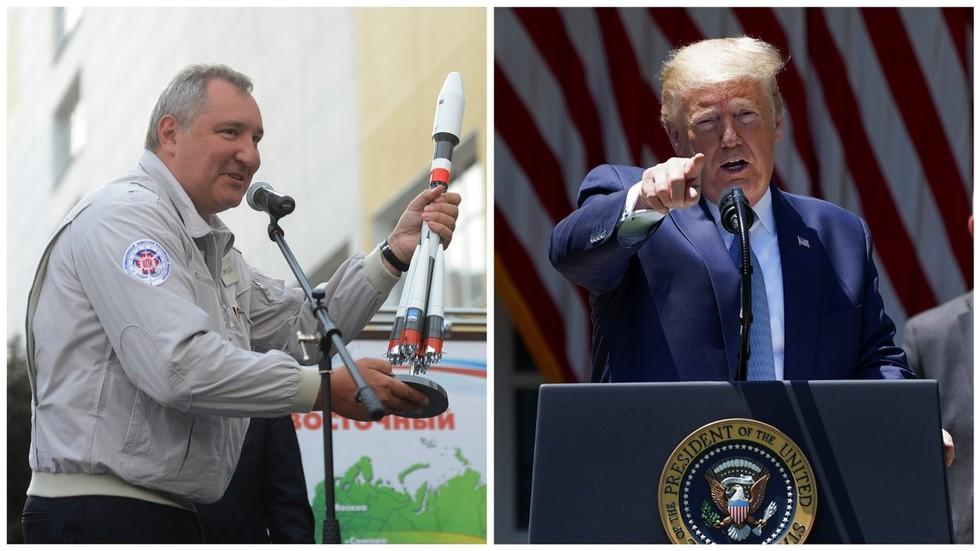 """РТ: """"Предајемо се!"""" Шеф Роскосмоса се подсменуо Трамповом хвалисању око америчке """"супер-ракете"""""""