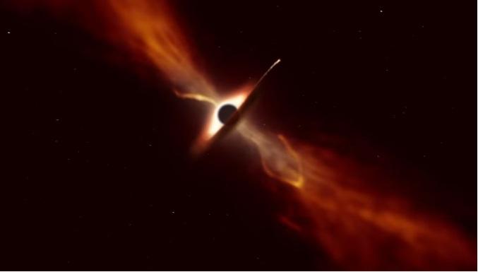 РТ: Астрономи забележили тачан тренутак када је супермасивна црна рупа појела целу звезду