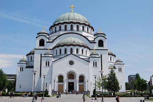 Поклон Русије: Почиње постављање мозаика на куполи храма Светог Саве