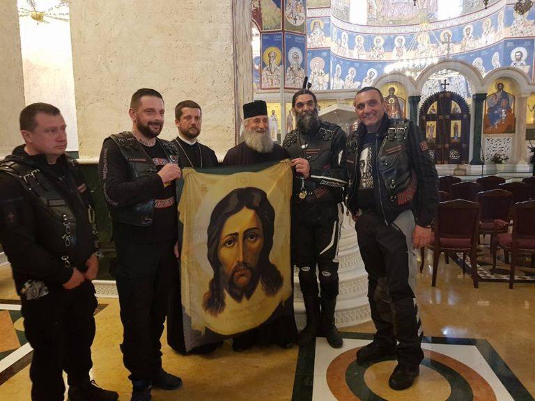 """""""Ноћни вукови"""" пренели завештање о језику на «Путу ћирилице»"""