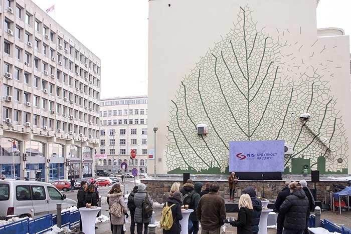 Свечано представљен нов престонички мурал - поклон НИС-а Београду