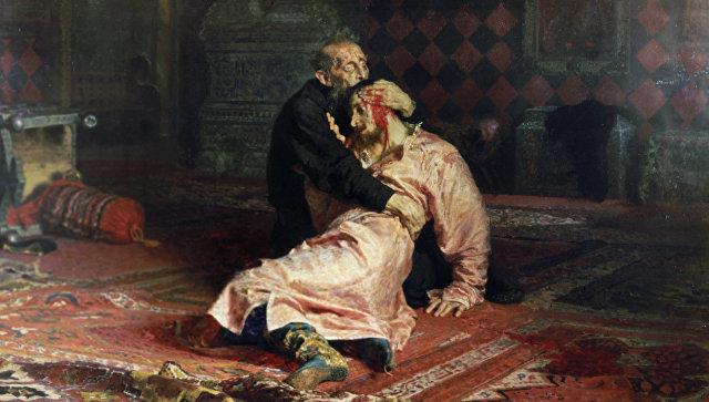 """Мушкарацштанглом оштетио слику """"Иван Грозни и његов син"""""""