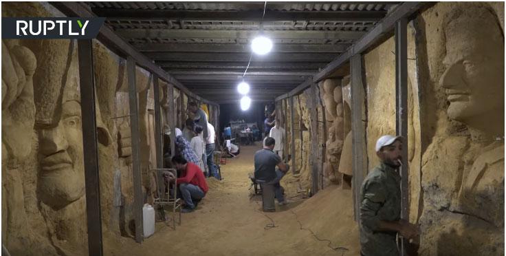 Сиријски уметници тунеле терориста претварају у уметничке галерије