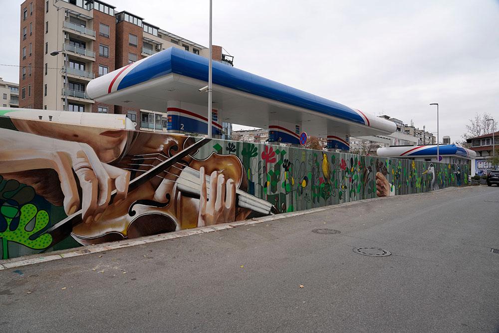 Улична уметност у улици Џона Кенедија