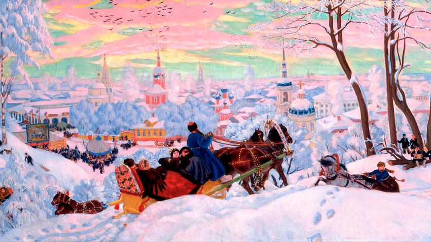 Sva lica zime na slikama ruskih umetnika