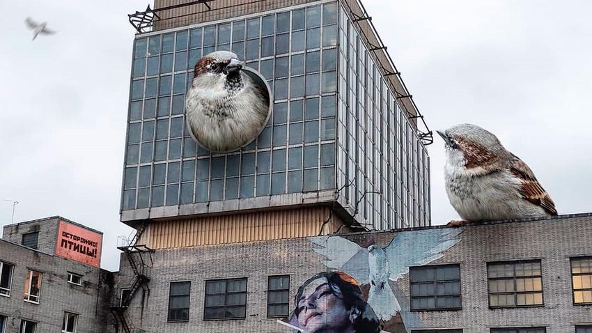 Уметник који Санкт Петербург замишља са роботима, киборзима и чудовишним бићима
