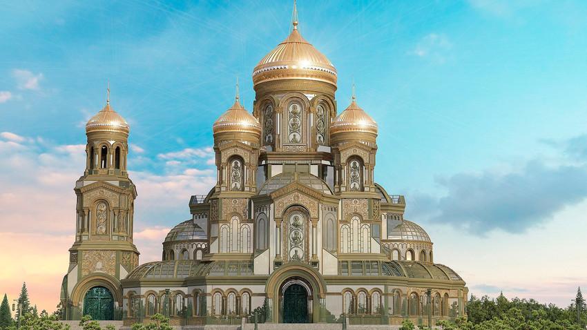 Како се градио Главни храм руске војске: 600 дана за 4 минута