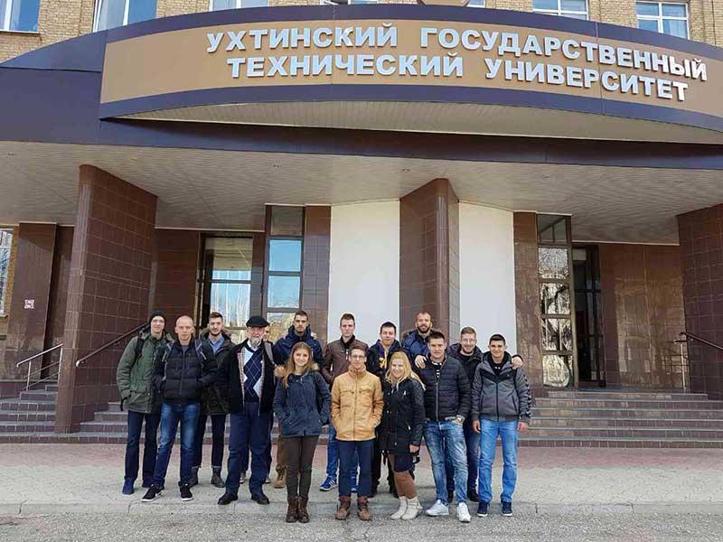 Србски студенти на пракси у Државном техничком универзитету у Ухти