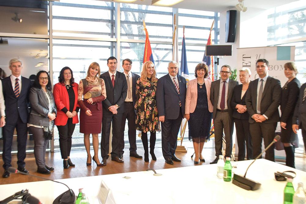 Делегација руских универзитета са градоначелником Новог Сада и ректором Универзитета у Новом Саду