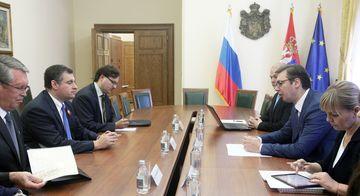 Слуцки и Вучић разговарали о унапређењу политичке и економске сарадње Русије и Србије