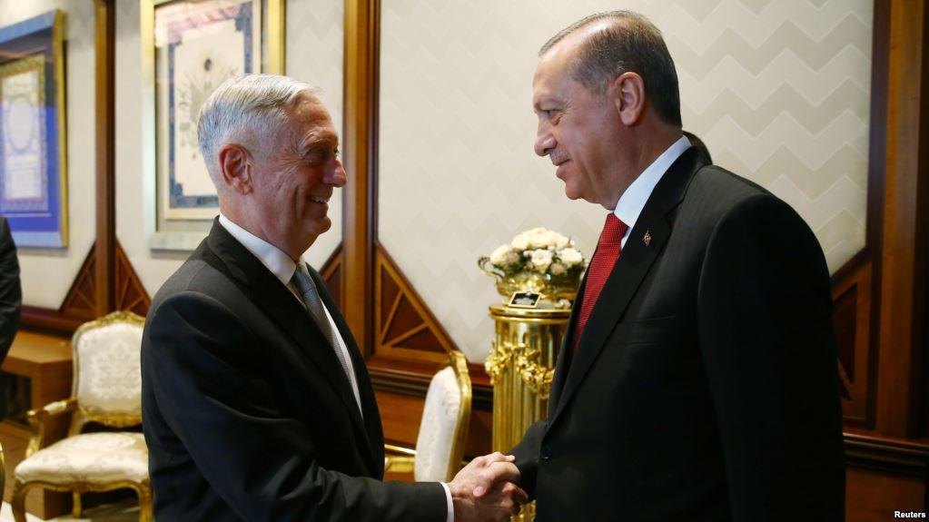 Ердоган и Матис разговарали о ситуацији у Сирији и Ираку