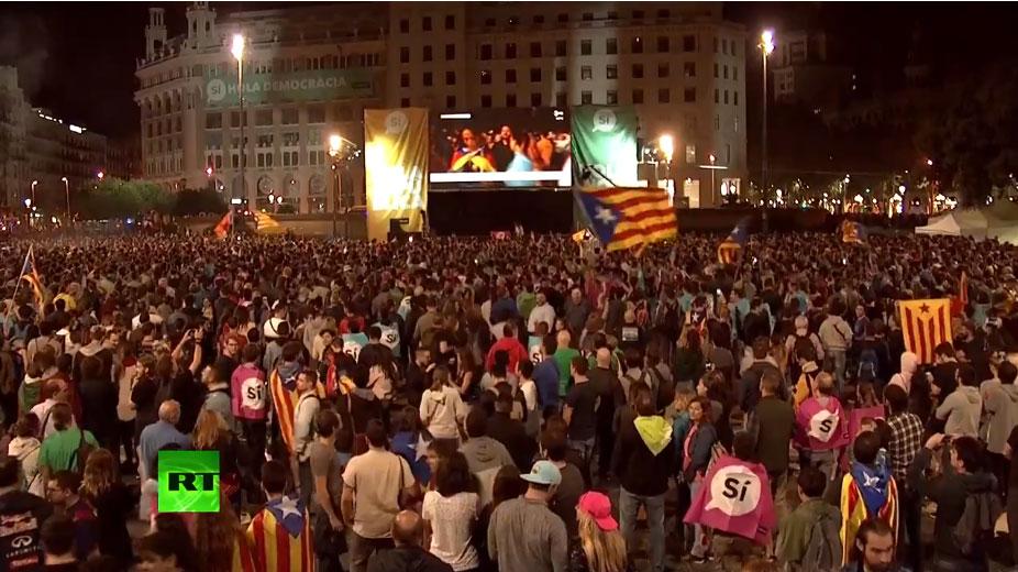 Становници Барселоне чекају резултате референдума - РТ УЖИВО