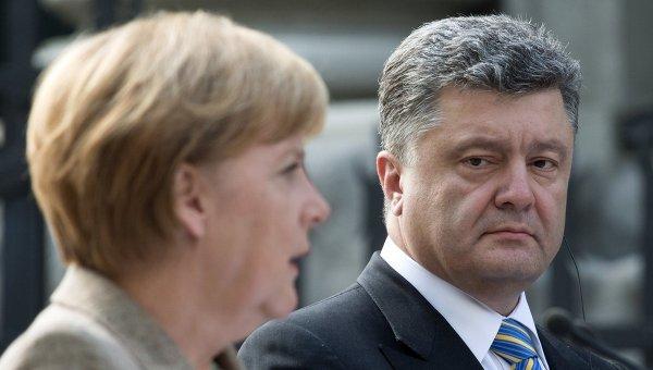 Merkelova i Porošenko razgovarali o situaciji u Donbasu