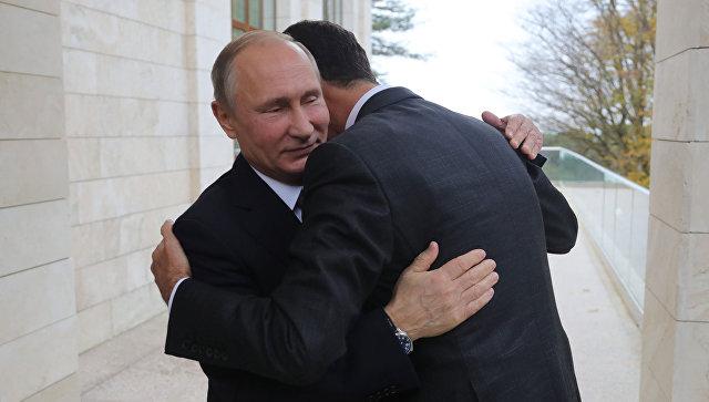 Асад честитао Путину на победи
