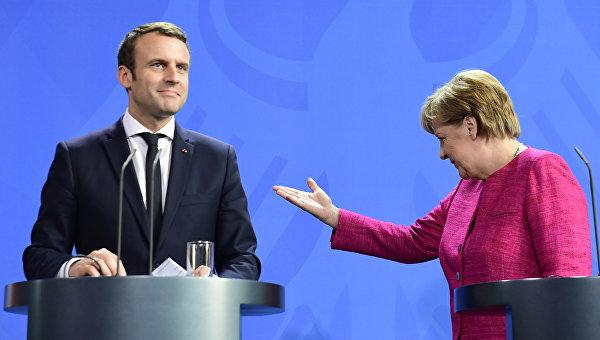 Меркелова: Сарадња Француске и Немачке тече врло добро