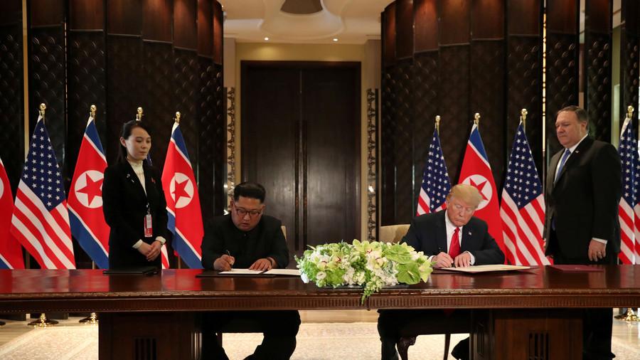 РТ: Ким и Трамп потписали заједнички документ