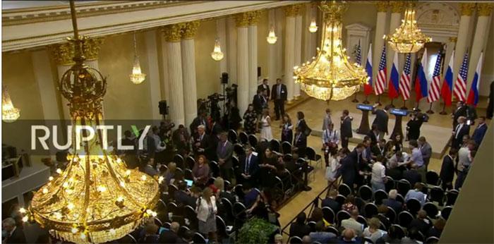 Прес конференција Владимира Путина и Доналда Трампа