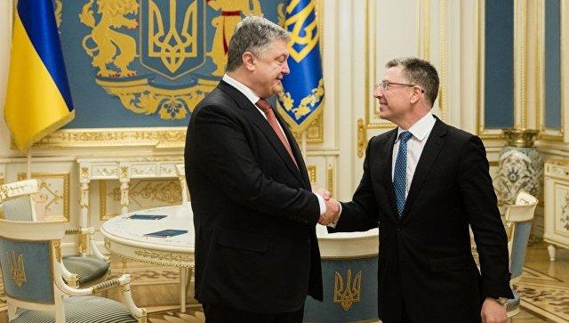 """Порошенко и Волкер разговарали о """"деокупацији"""" Донбаса"""