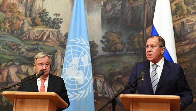 Лавров и Гутереш разговарали о ситуацији у Сирији и споразуму о Идлибу