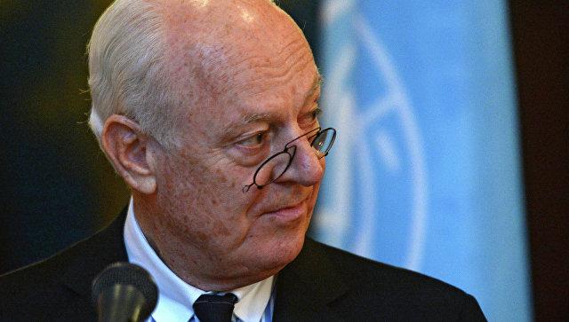 Специјални изасланик УН-a за Сирију Стафан де Мистура најавио повлачeње са дужности