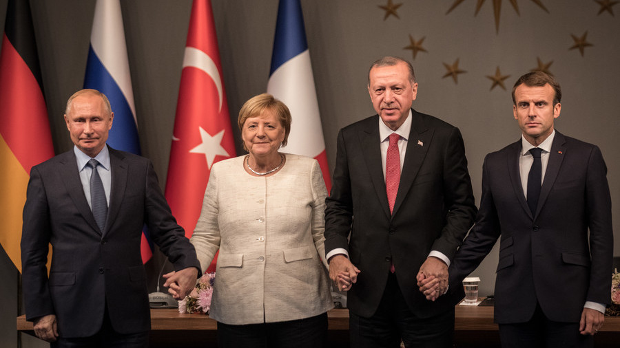 РТ: Заједничке тачке о Сирији: Шта су у Истанбулу договориле Француска, Немачка, Турска и Русија
