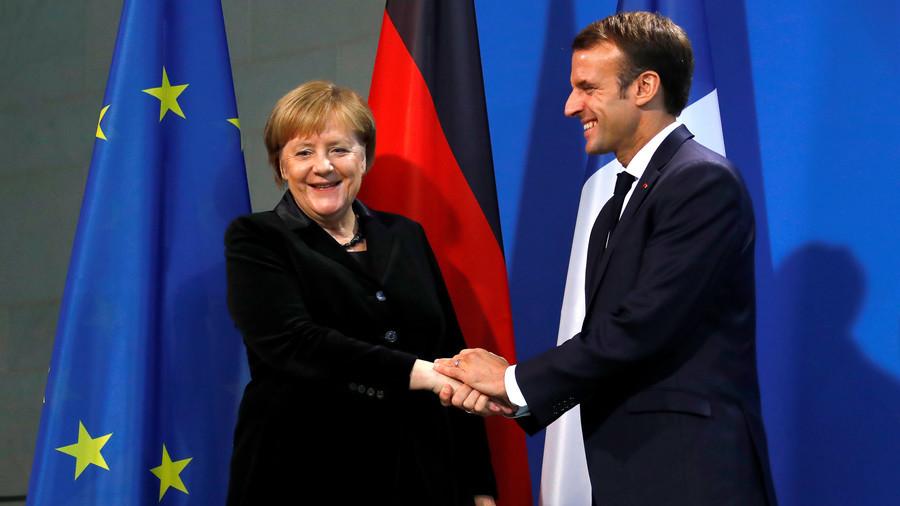 """РТ: """"Живела Европа?"""": Макрон каже да само француско-немачки пар може спречити глобални хаос"""