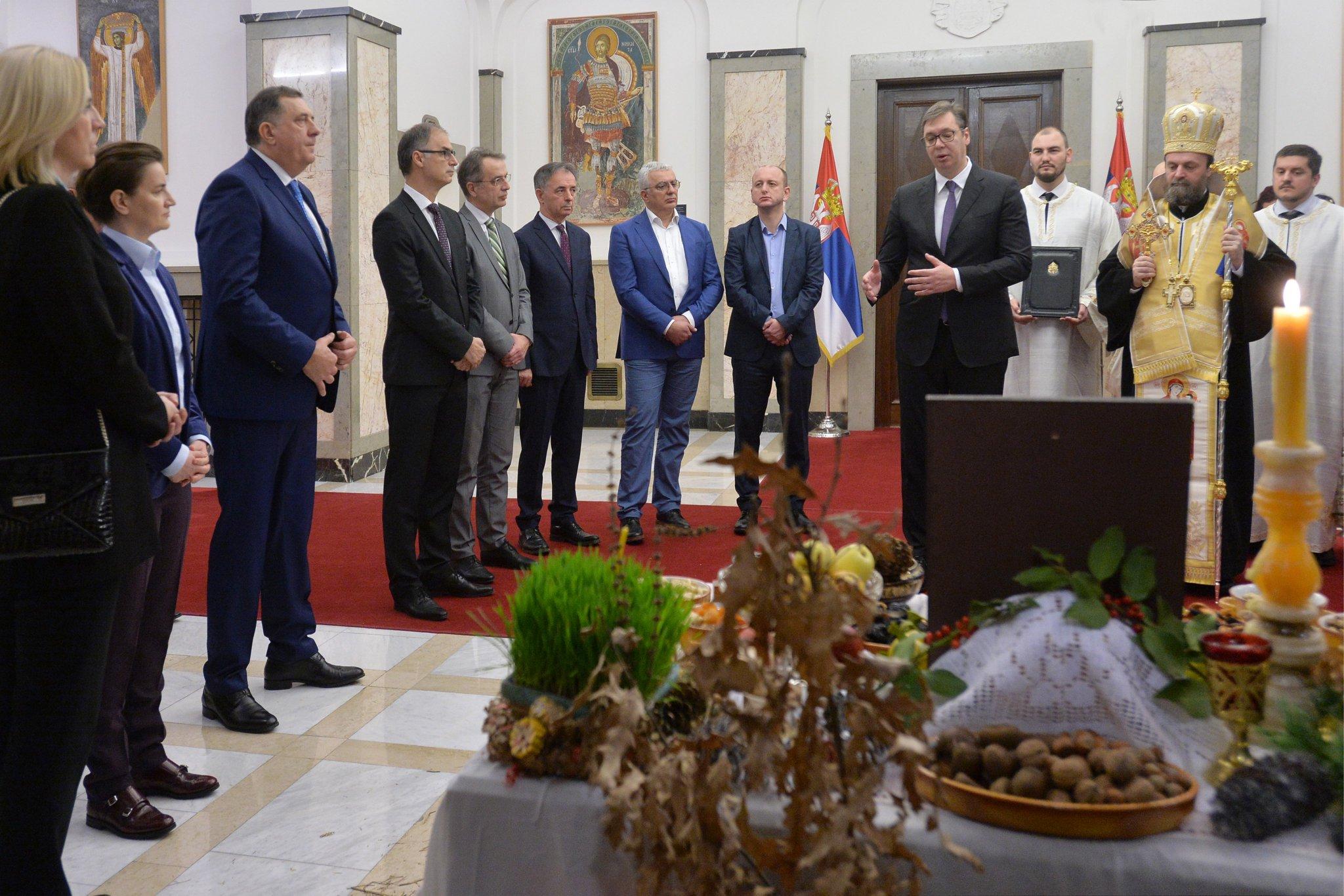 Lideri Srba zajedno u Beogradu na Badnji dan