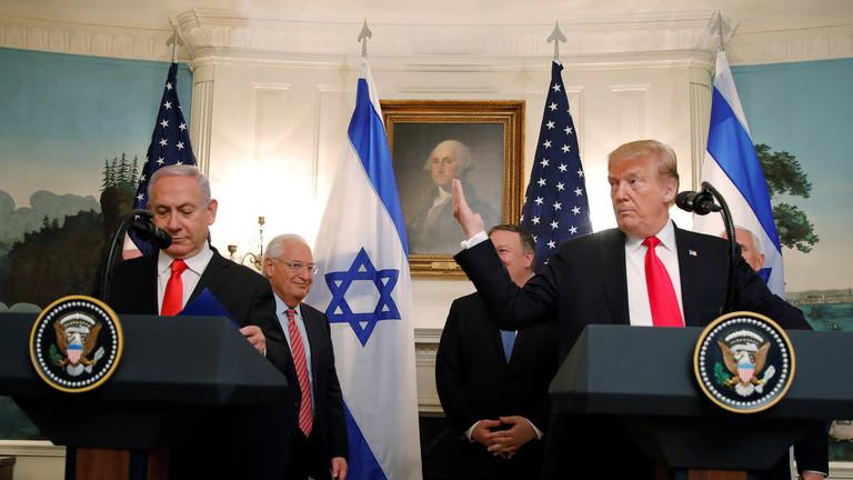 РТ: Трамп потписао декларацију којом се признаје суверенитет Израела над спорним Голанском висоравни