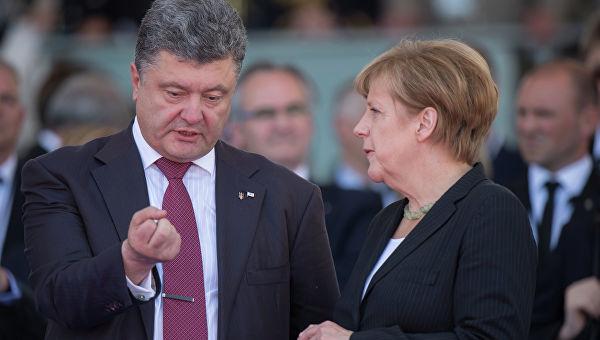 Меркелова и Порошенко разговарали о ситуацији у Донбасу и изборима у Украјини