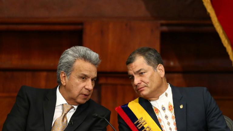 """РТ: """"Највећи издајник у историји Еквадора"""": Бивши председник Кореа осудио Морена због хапшења Асанжа"""
