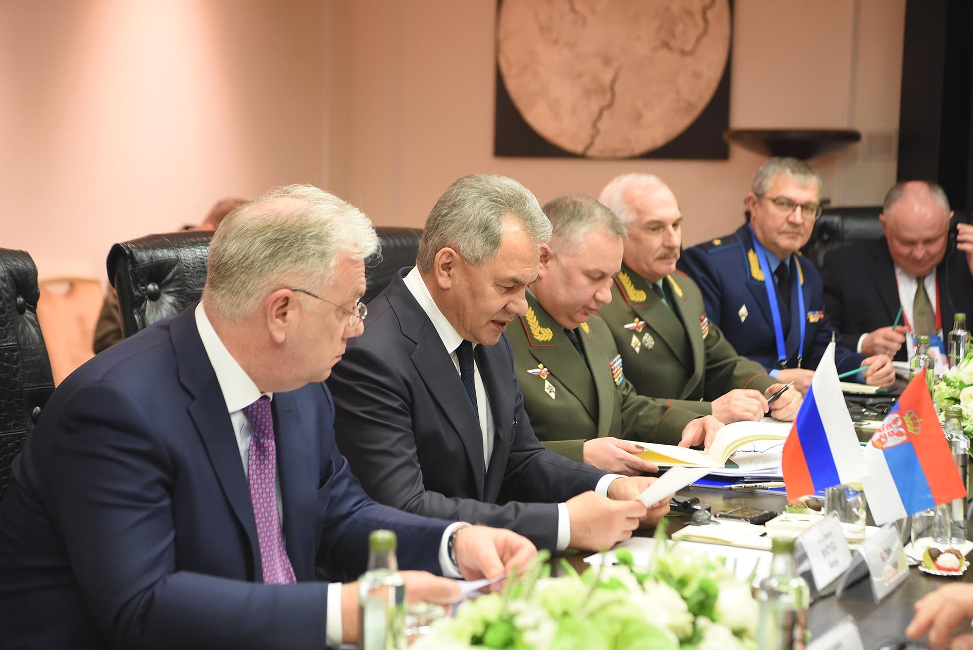 Односи између министарстава одбране Србије и Русије на највишем историјском нивоу