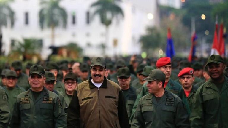 """РТ: """"Уједињени као никада раније"""": Мадуро предводио војни марш, захваливши војсци за оданост"""