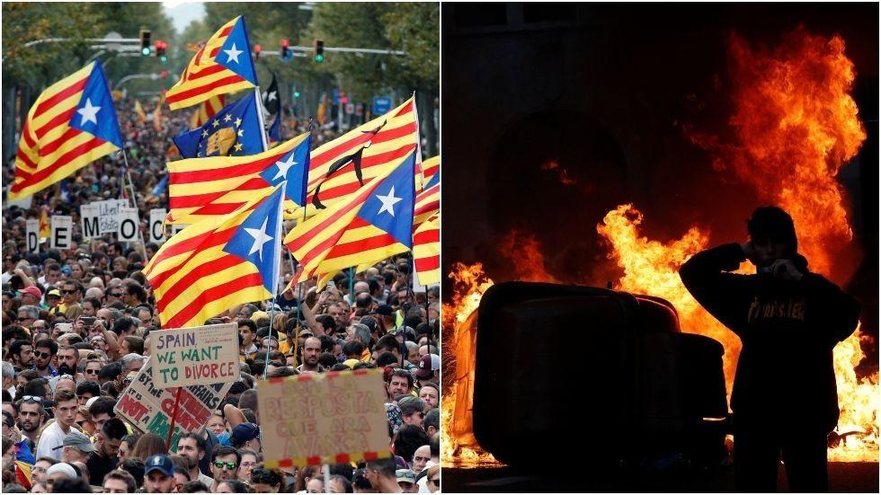 РТ: Пола милиона присталица независности Каталоније на протесту у Барселони
