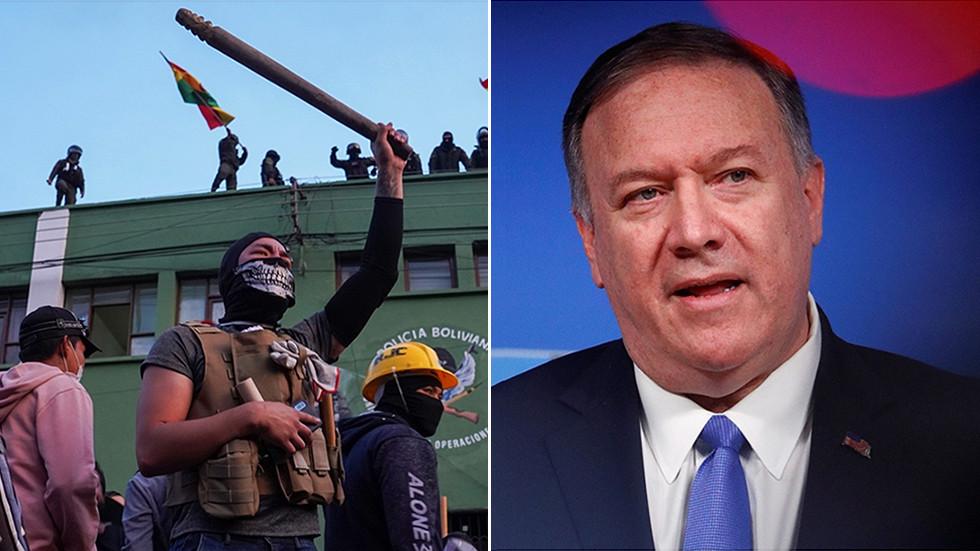 """РТ: САД ће помоћи """"легитимним владама Латинске Америке"""" да спрече протесте од """"претварања у немире"""" - Помпео"""