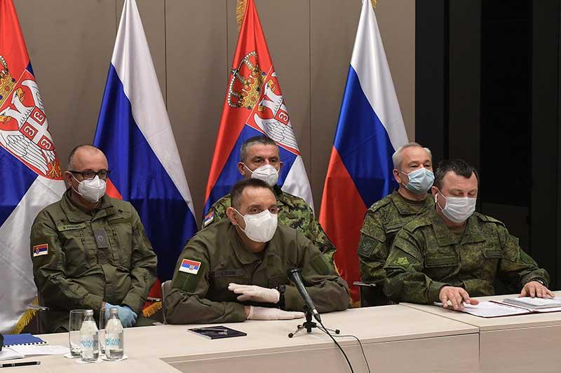 Одржана видео конференција министара одбране Русије и Србије