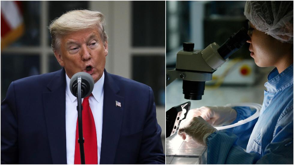 """РТ: Трамп саопштио да """"детаљно испитују"""" порекло коронавируса одбијајући да одбаци """"изворе"""" који истичу наратив о кинеској лабораторији"""
