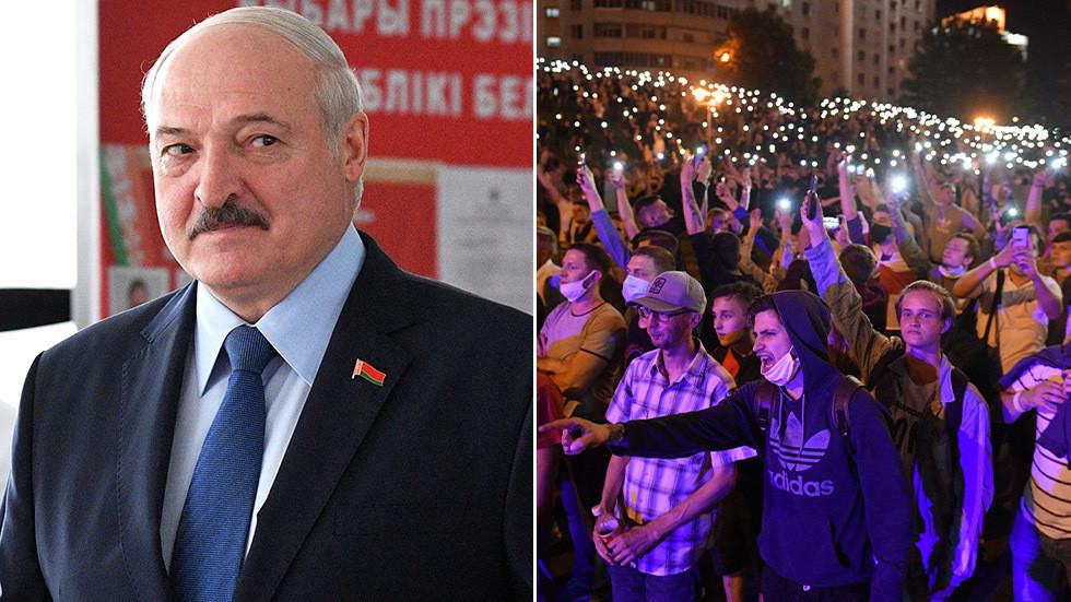 РТ: Демонстрантима командовано из иностранства, укључујући Пољску, Велику Британију и Чешку - Лукашенко