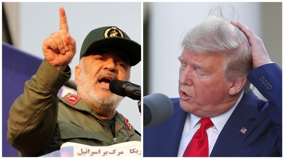 """РТ: Ирански генерал упозорио Трампа на одмазду ако било ком Иранцу """"падне длака с главе"""" усред пораста тензија, док САД прете санкцијама"""