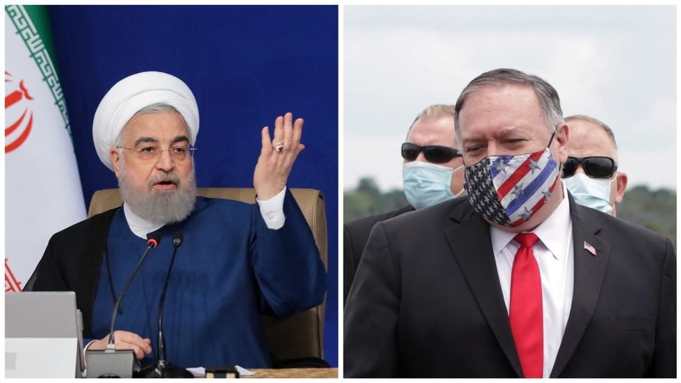 """РТ: Рохани назвао Помпеа """"министром злочина"""", а нове америчке санкције против Ирана """"дивљаштвом"""