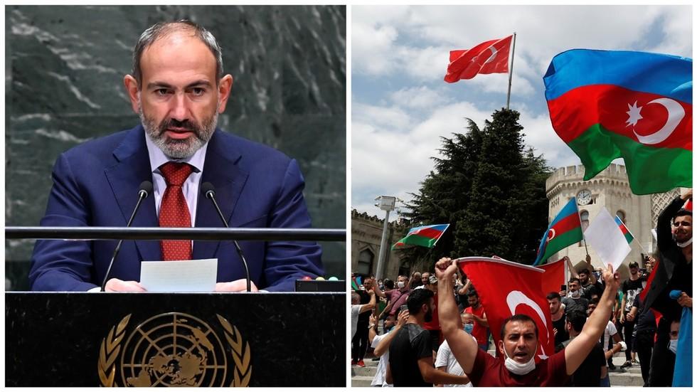 """РТ: Јерменски премијер упозорио """"агресивну"""" Турску да се држи ван сукоба око Нагорно-Карабаха, те да би се непријатељства могла прелити преко регионалних граница"""