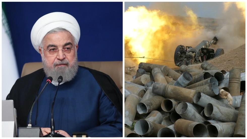"""РТ: Ирански председник осудио слање сиријских """"терориста"""" у Нагорно-Карабах, упозоравајући да би сукоб могао да изазове регионални рат"""