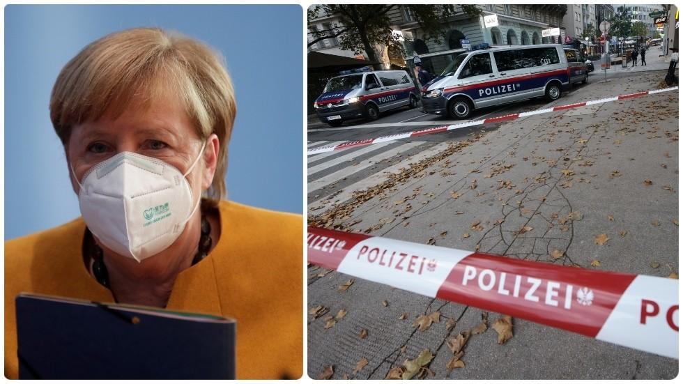 """РТ: """"Исламистички тероризам је наш заједнички непријатељ"""": Меркелова изразила подршку Аустријанцима након напада у Бечу"""