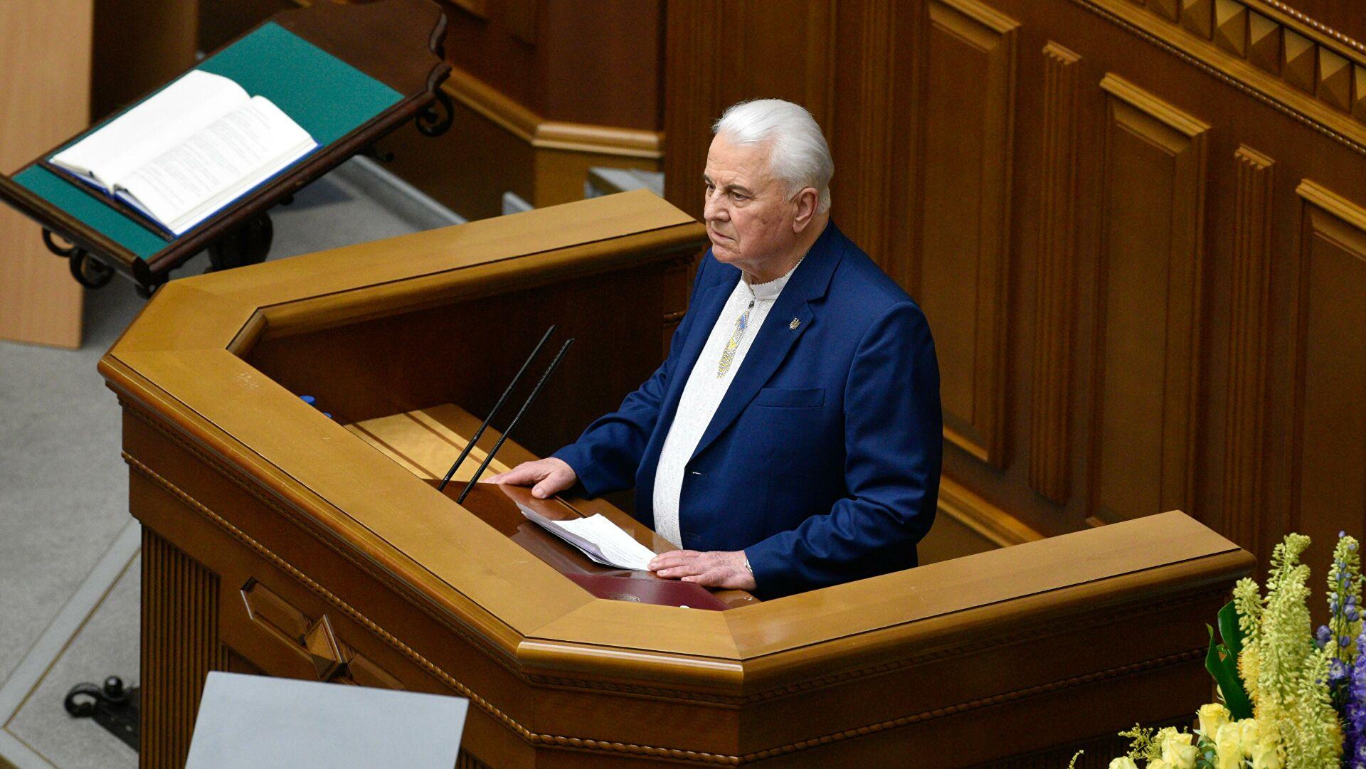 """Кравчук оптужио Русију да настоји да """"присвоји"""" Донбас"""