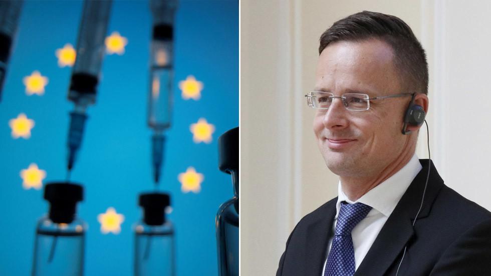 """РТ: Прављење политичког питања око вакцина против коронавируса је великa грешка ЕУ, каже Сијарто за РТ након што је примио """"Спутњик V"""""""